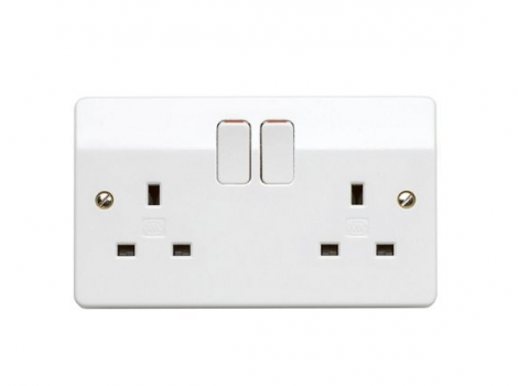 G&T 2 Gang Switched Sockets