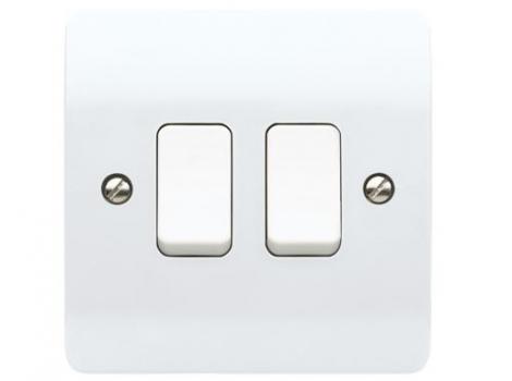 Light Switch 2 Gang 10A 2 Way
