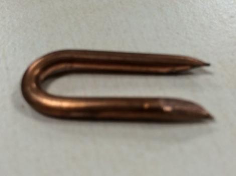 Copper  Staples nail - 12mm x 4.00mm (Guage 8) - 1kg Boxes