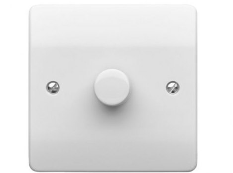 Dimmer Switch 1 Gang 500W 2 Way K1501WHILV