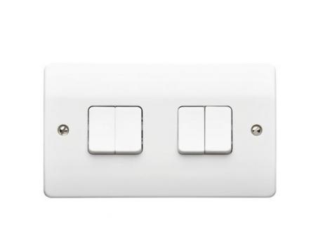 Light Switch 4 Gang 10A 2 Way K4874WHI