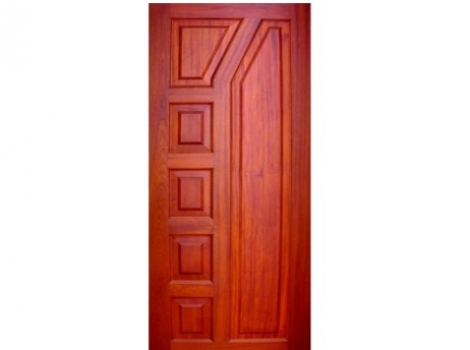 Vertically Multi-Paneled Doors - (Pure Mahogany).