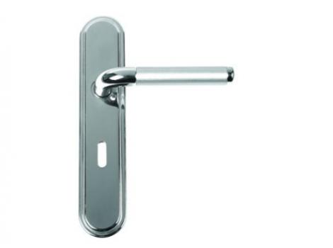 Door Handle - Vienna Lever Lock Polished Nickel
