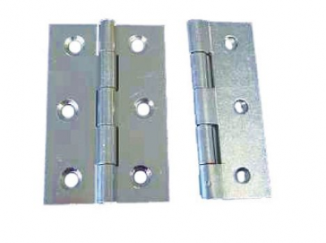 Butt Hinges Fixed Pin Zinc Plated 75mm Pack of 2