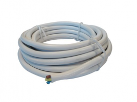 3 Core Round Flex 3183Y White 1.5mm x 5m- Per Meter