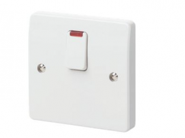 G&T Base Flex Outlet Switch 20A Dp Switch with Neon