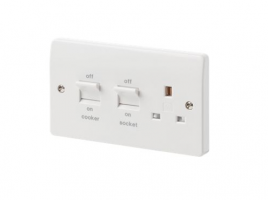 Cooker Socket 45A Dp Cooker Switch & Socket K5060WHI