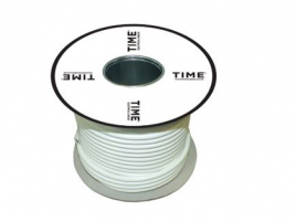 Pitacs 1.5mm² 3 Core Heat Resistant Flexible Cable 3093Y White 50m