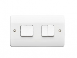 Light Switch 4 Gang 10A 2 Way K4874WHI