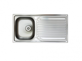 Stainless Steel Inset sink with a satin polished finish