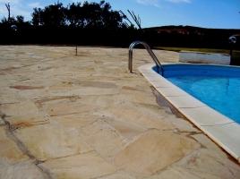 Mint Yellow Sandstone Flagstone Pavers