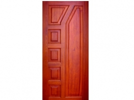 Vertically Multi-Paneled Doors - (Pure Mahogany).