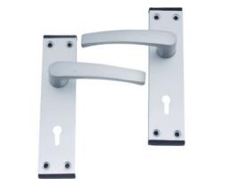 Door Handle - Lever Lock Satin Anodised Aluminium