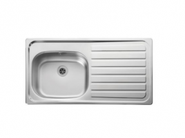 Stainless Steel 1 Bowl Right Drainer Sink 950mm x 508mm