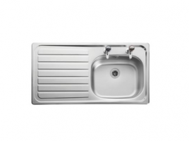 Stainless Steel 1 Bowl Left Drainer Sink 950mm x 508mm